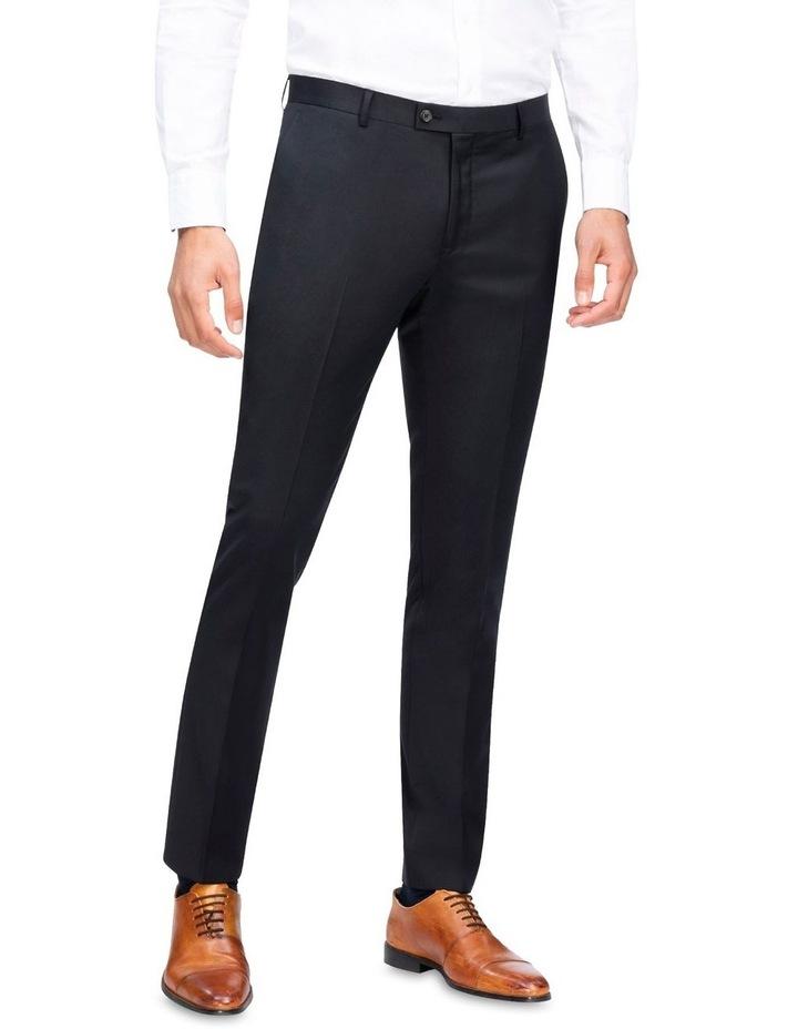 X-Slim Plain Twill Wool Suit Trouser Black image 1