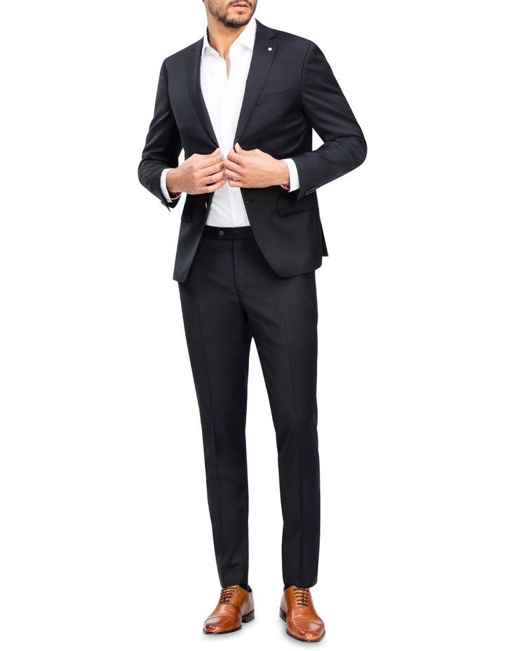 X-Slim Plain Twill Wool Suit Trouser Black image 2