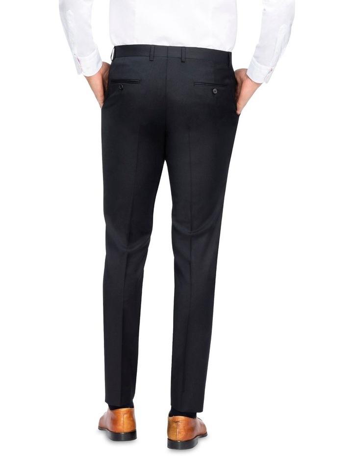 X-Slim Plain Twill Wool Suit Trouser Black image 3