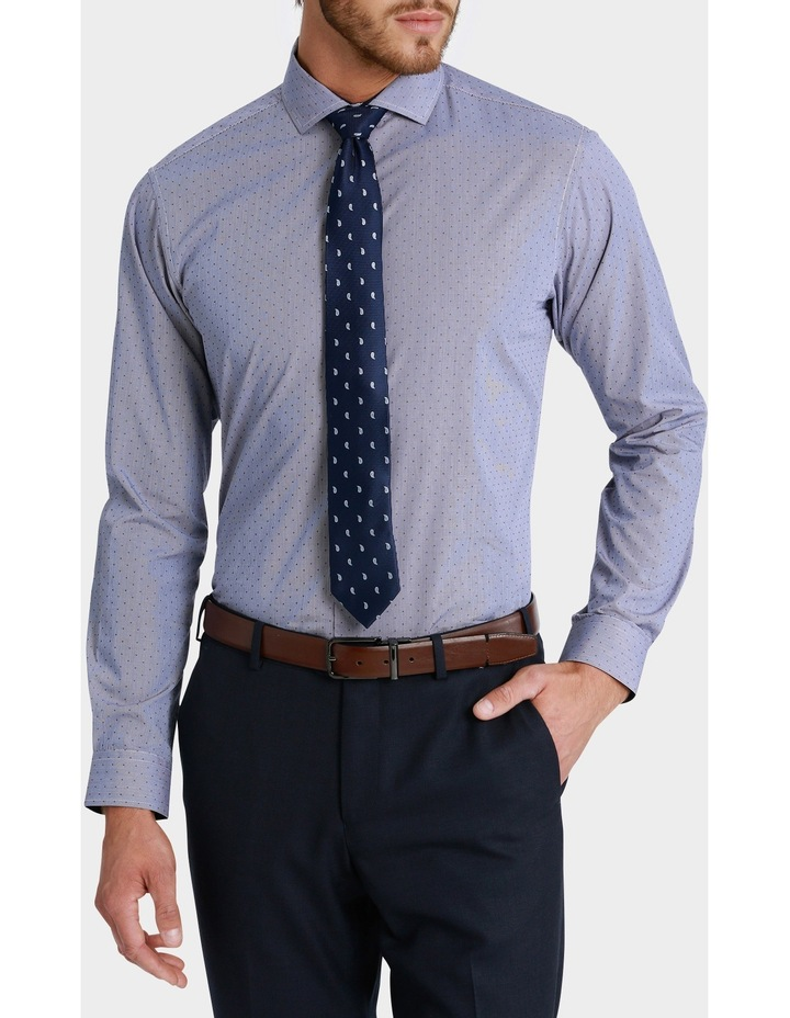 George Check with Dobby Spot Print Business Shirt image 1