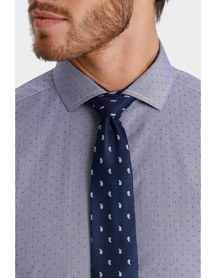 George Check with Dobby Spot Print Business Shirt image 4
