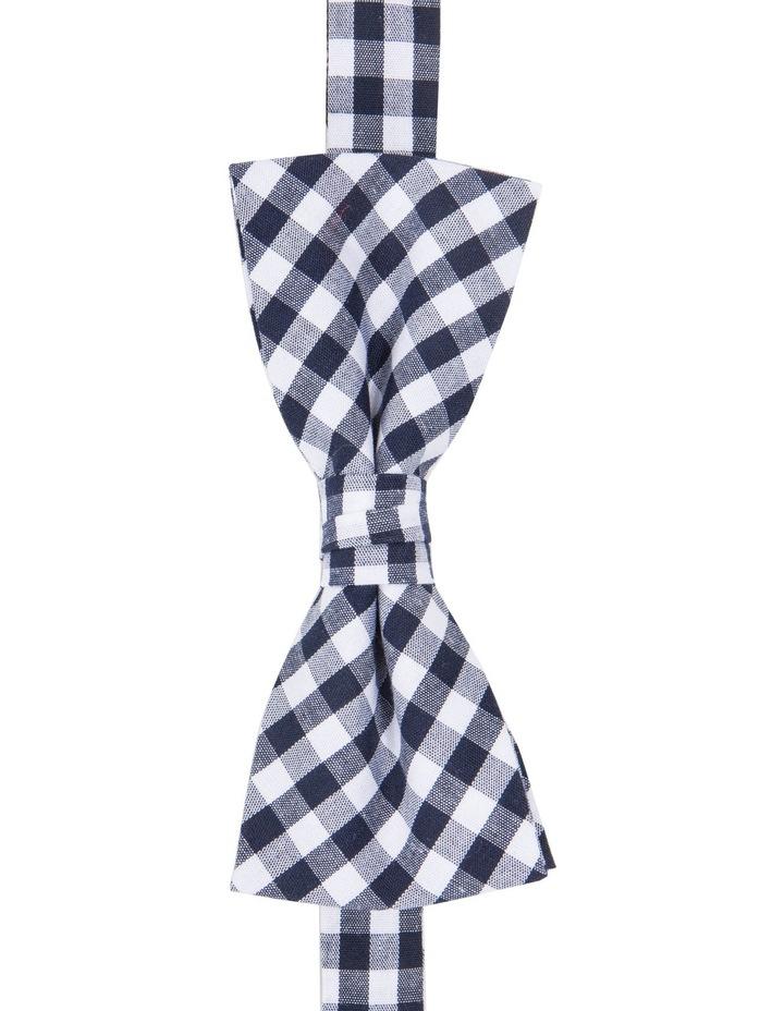 Navy Check Pattern Tie image 2