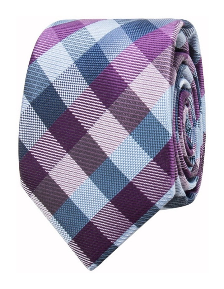 Purple Tie - Check Pattern image 1