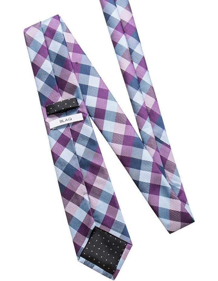 Purple Tie - Check Pattern image 2