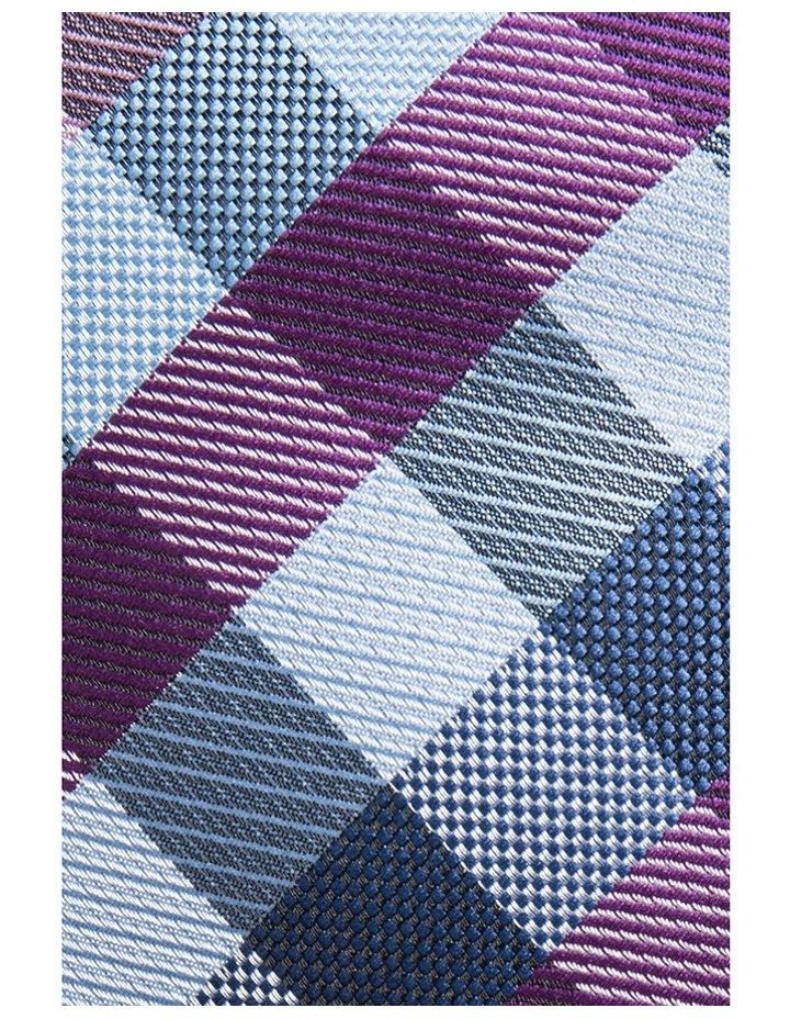 Purple Tie - Check Pattern image 3
