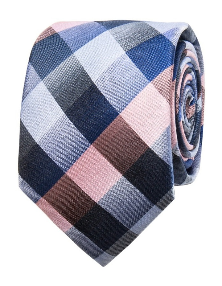 Pink Tie - Check Pattern image 1