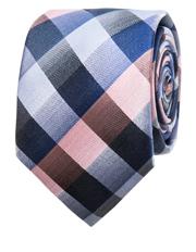 Pink Tie - Check Pattern