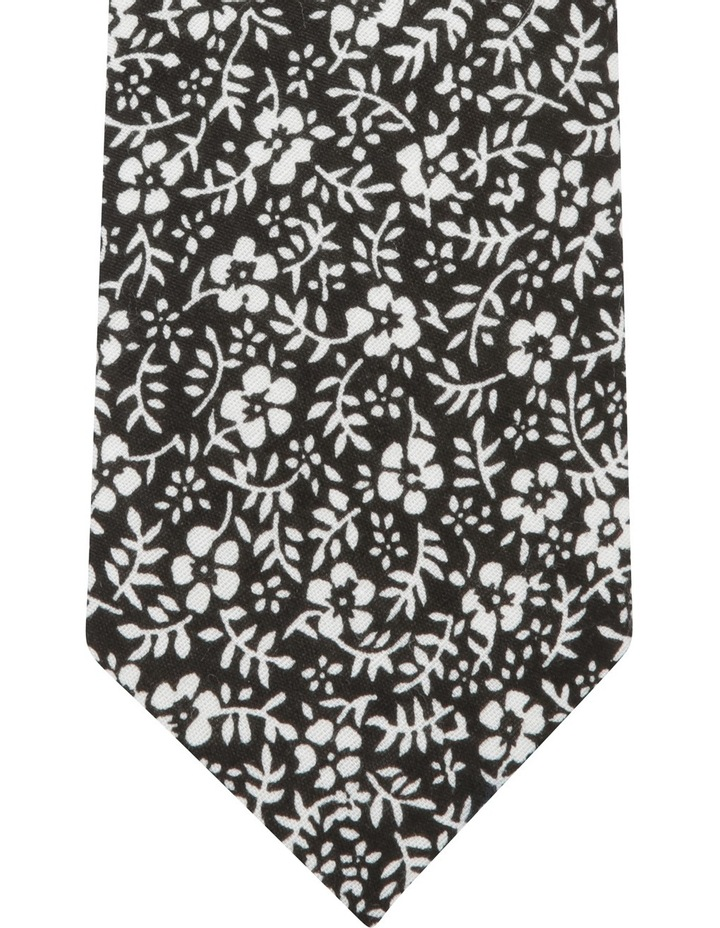 Drawn Floral Tie Black BLPTS18201 image 2