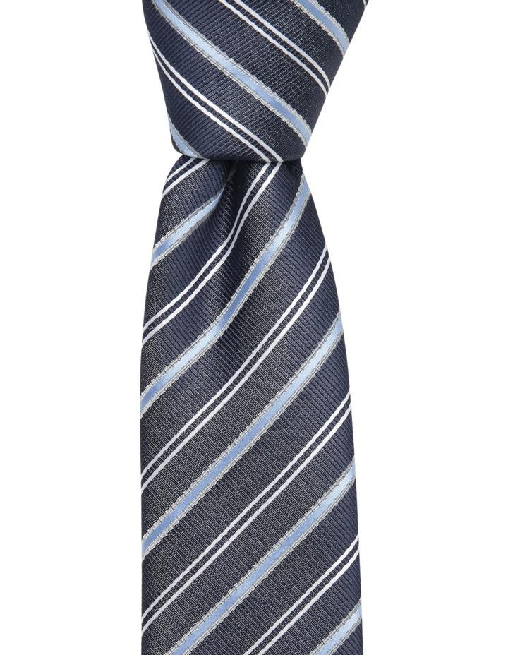 Diagonal Stripe Tie Navy BLPTS18101 image 1