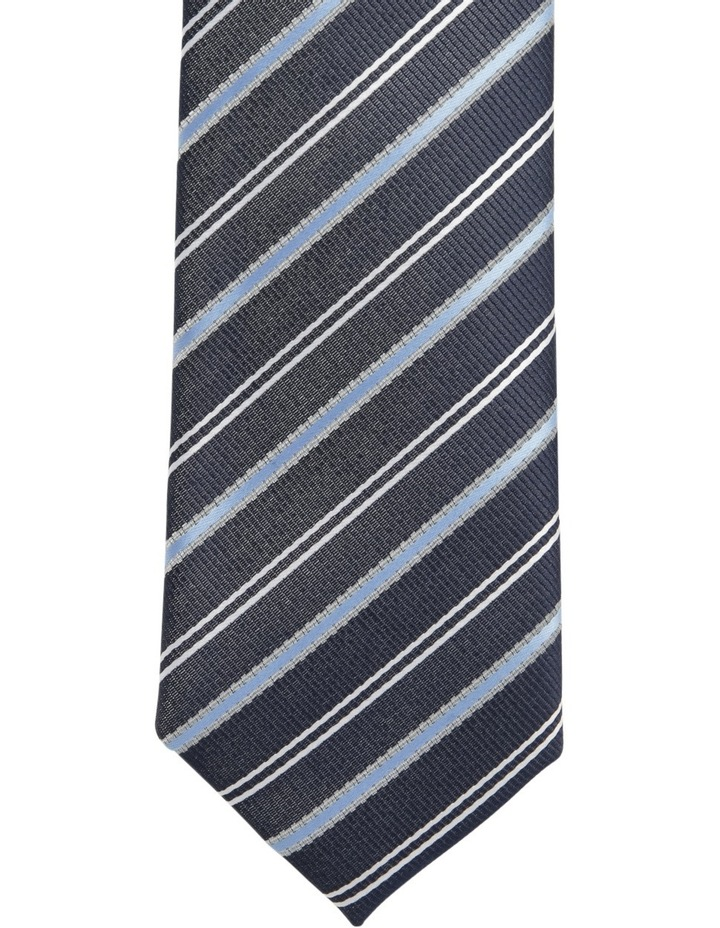 Diagonal Stripe Tie Navy BLPTS18101 image 2