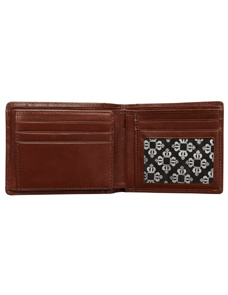 Leather Wallet with Zip Compartment image 3