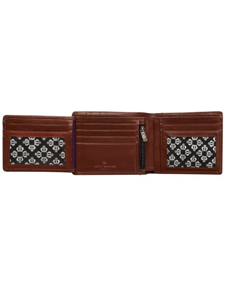 Leather Wallet with Zip Compartment image 4