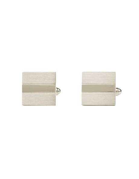 Silver Brushed Cufflinks image 1