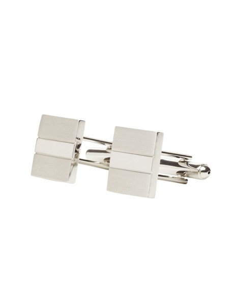 Silver Brushed Cufflinks image 2