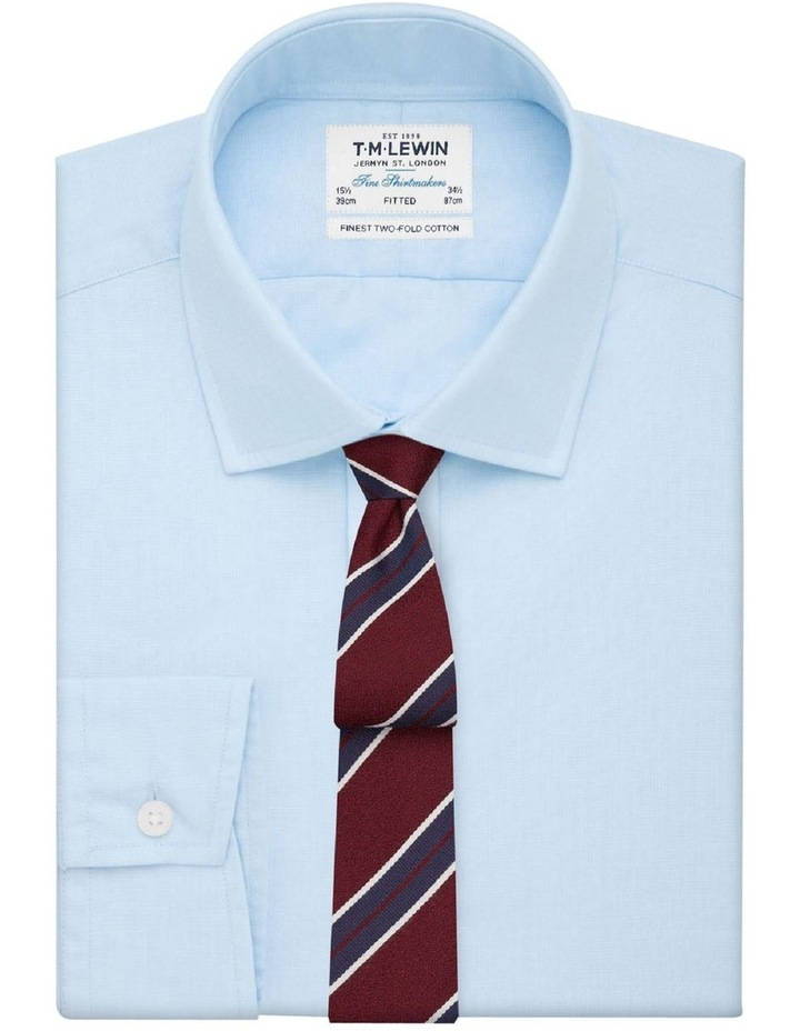 Fitted Light Blue End-on-End Button Cuff Shirt image 1