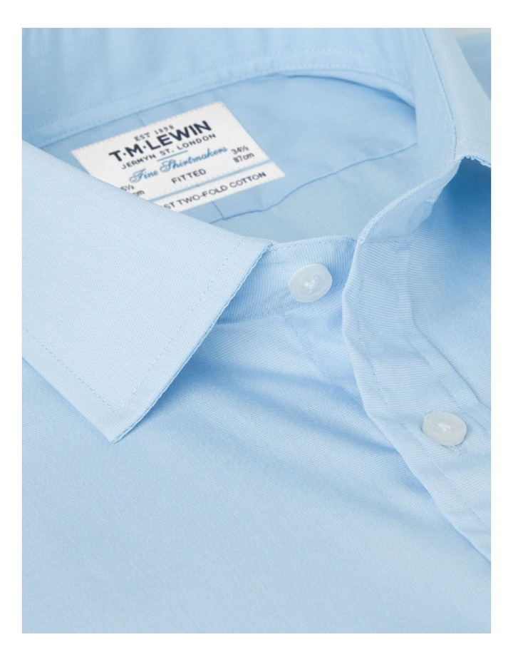 Fitted Light Blue End-on-End Button Cuff Shirt image 2