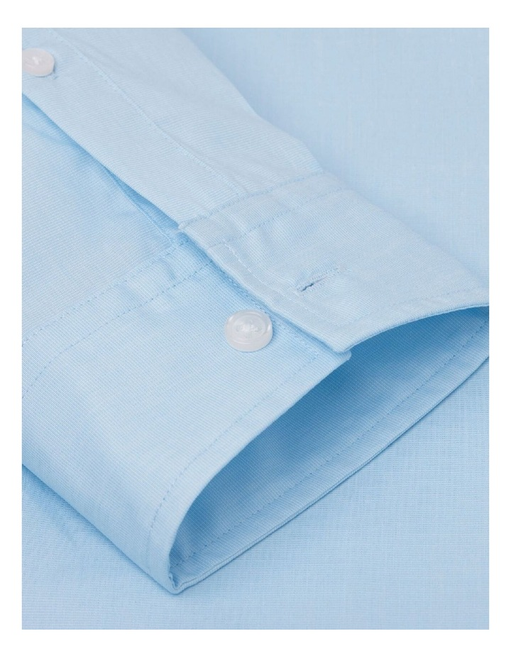 Fitted Light Blue End-on-End Button Cuff Shirt image 3
