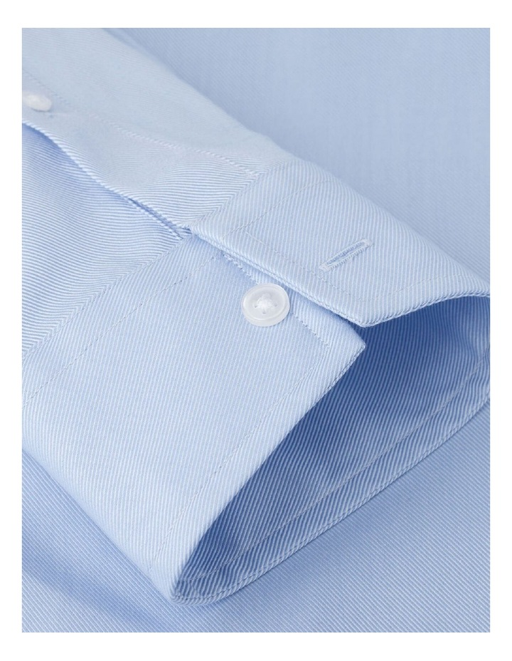 Fitted Plain Blue Luxury Twill Button Cuff Shirt image 3