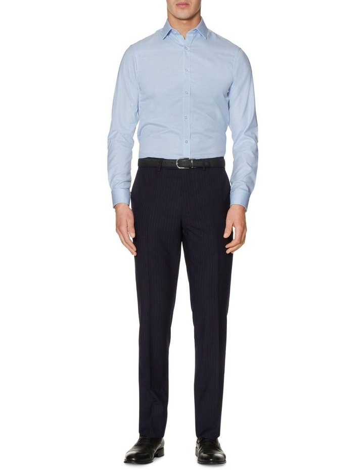 Non-Iron Blue Dogtooth Fitted Shirt image 1