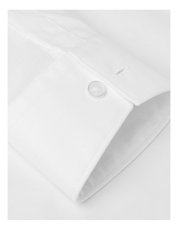 Stretch Cotton Fitted White Shirt - Button Cuff image 3