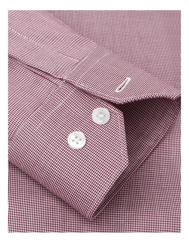 Fitted Single Cuff Micro Dogtooth Shirt image 3