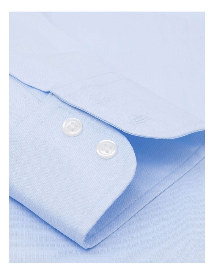 Slim Fit Light Blue End-on-End Button Cuff Shirt image 3