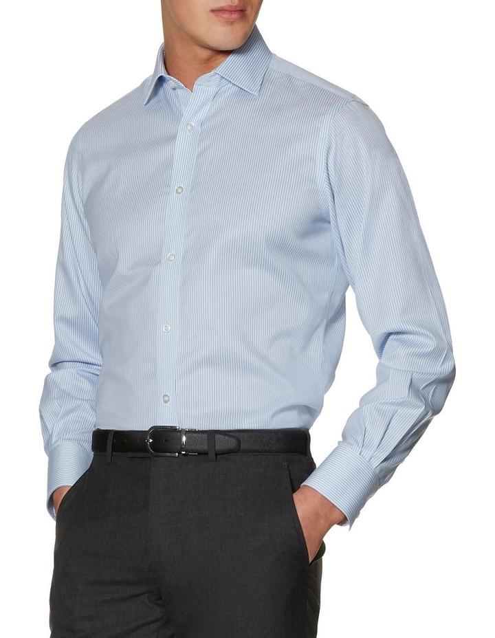 Non-Iron Blue Bengal Stripe Slim Fit Shirt image 1