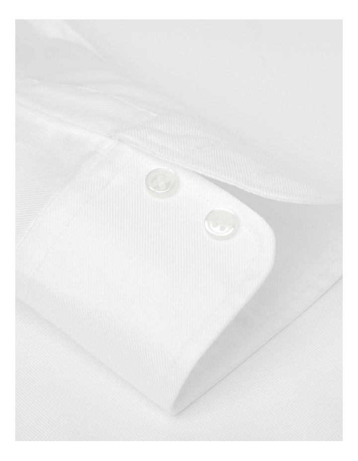 Slim Fit White Twill Cutaway Collar Shirt image 3