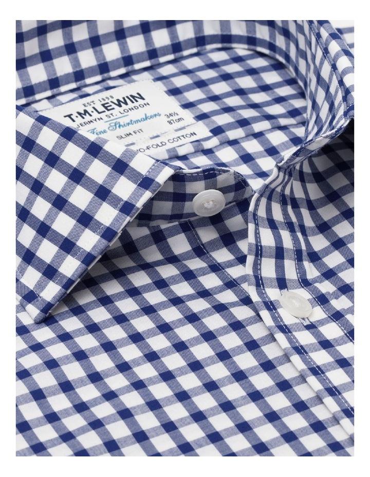 Slim Fit Navy Check Poplin Shirt image 2