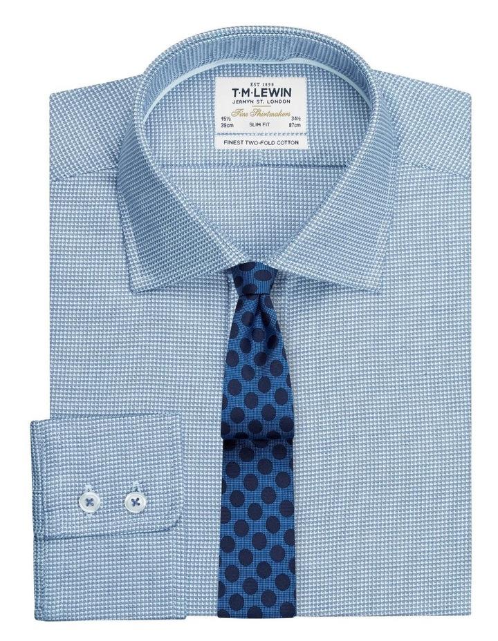 Slim Fit Navy Arrow Twill Button Cuff Shirt image 1