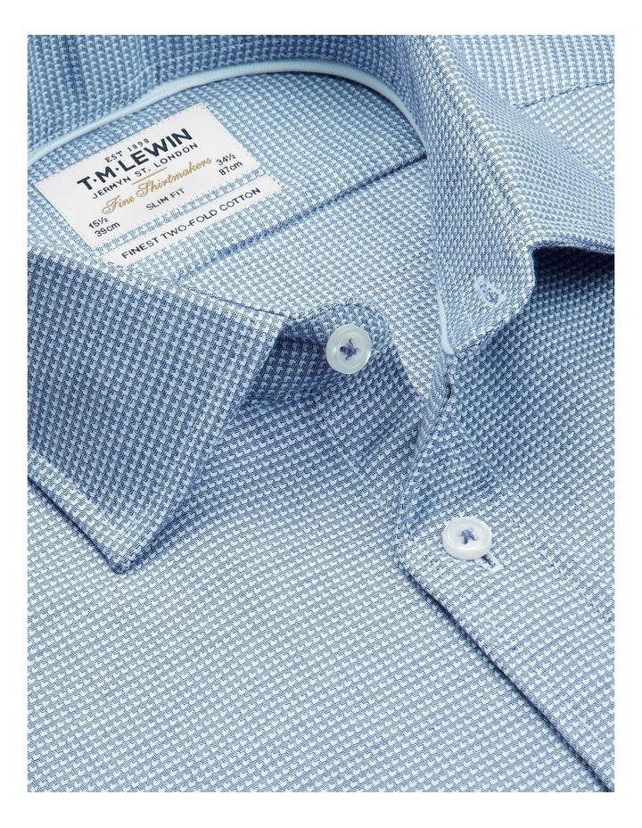 Slim Fit Navy Arrow Twill Button Cuff Shirt image 2