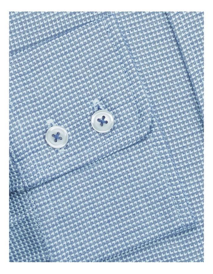 Slim Fit Navy Arrow Twill Button Cuff Shirt image 3