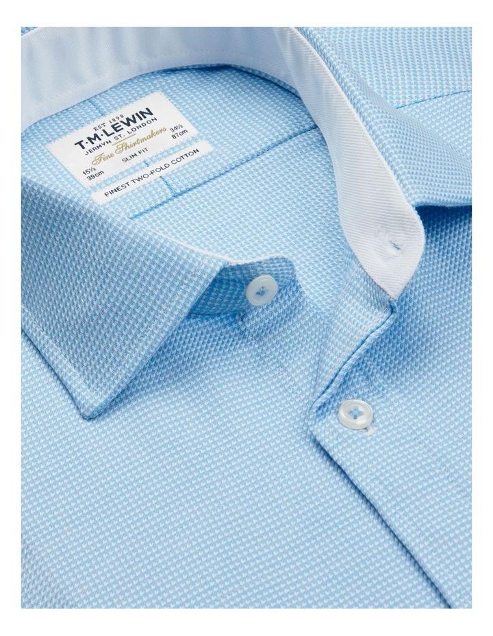 Slim Fit Blue Arrow Twill Button Cuff Shirt image 2