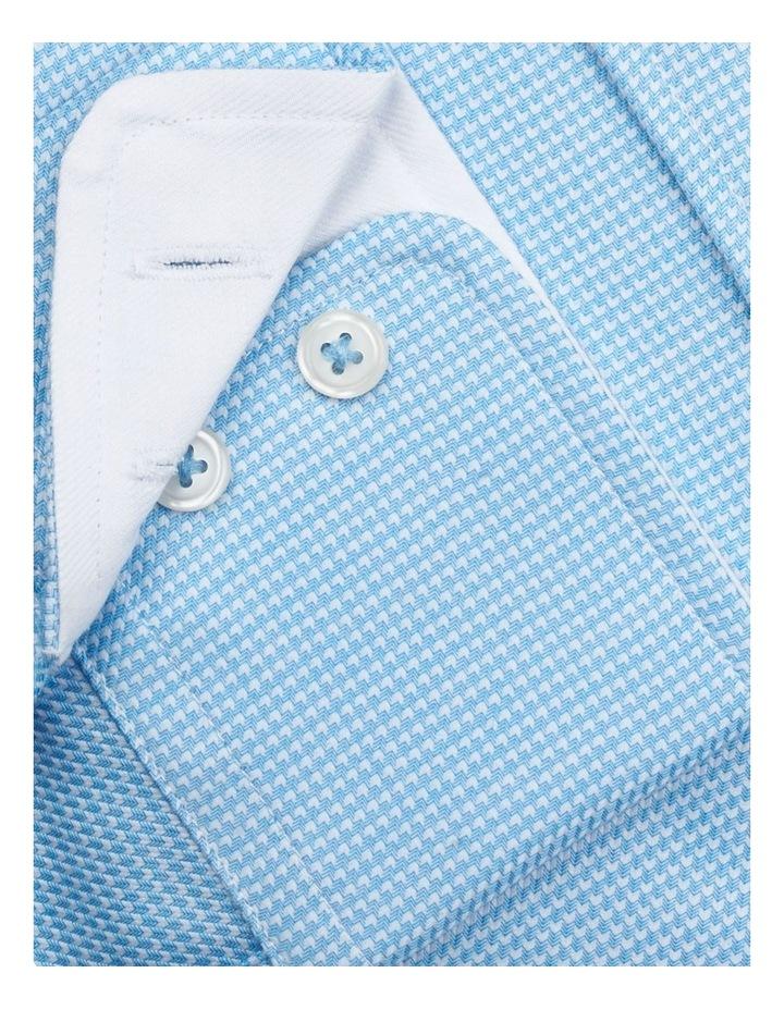 Slim Fit Blue Arrow Twill Button Cuff Shirt image 3