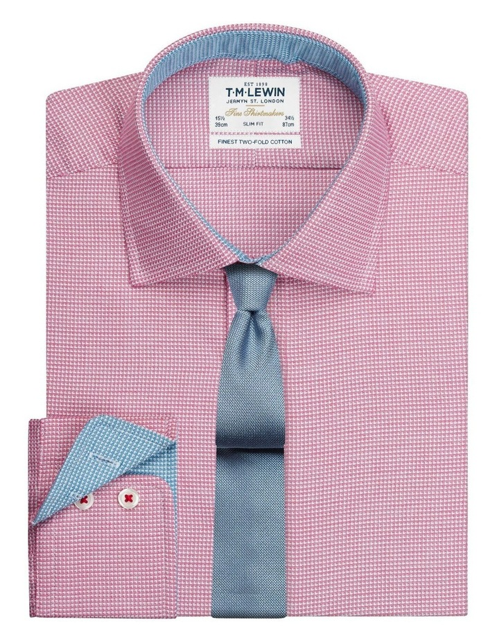 Slim Fit Magenta Arrow Twill Button Cuff Shirt image 1
