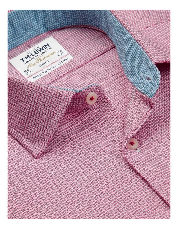 Slim Fit Magenta Arrow Twill Button Cuff Shirt image 2