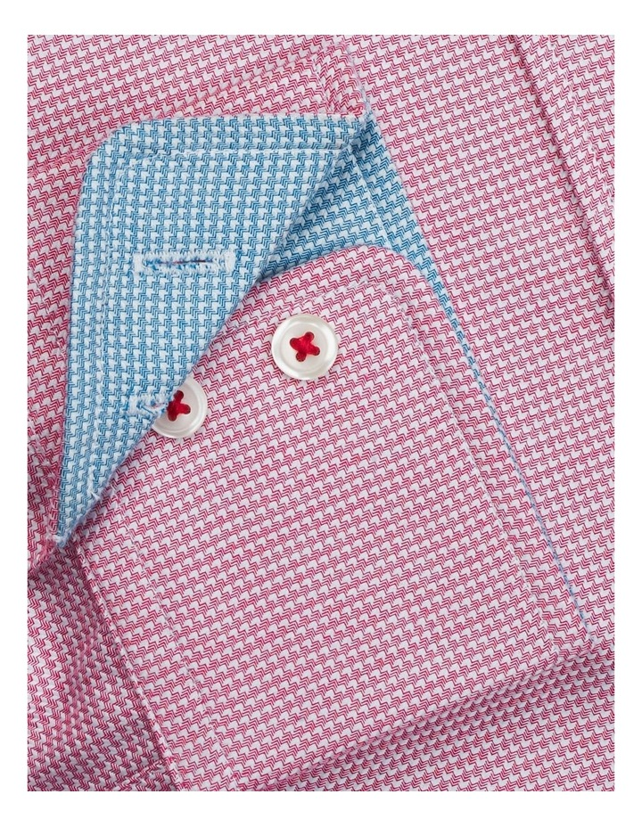 Slim Fit Magenta Arrow Twill Button Cuff Shirt image 3
