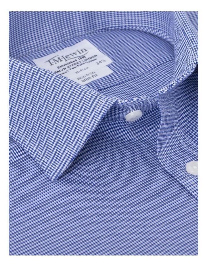 Slim Fit Single Cuff Dogtooth Shirt image 2