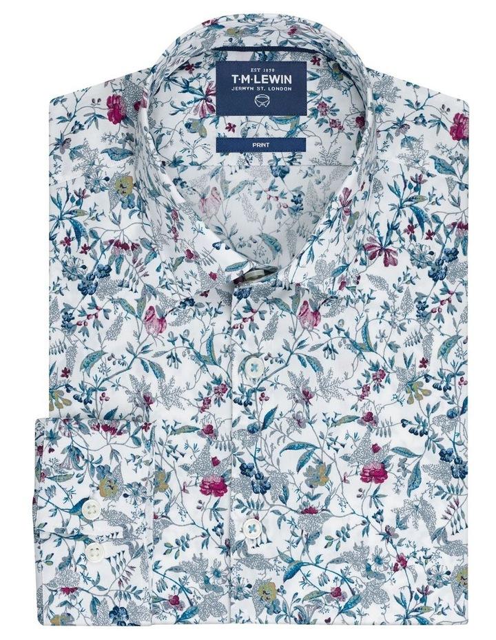 Raspberry Highlight Floral Print Shirt image 1