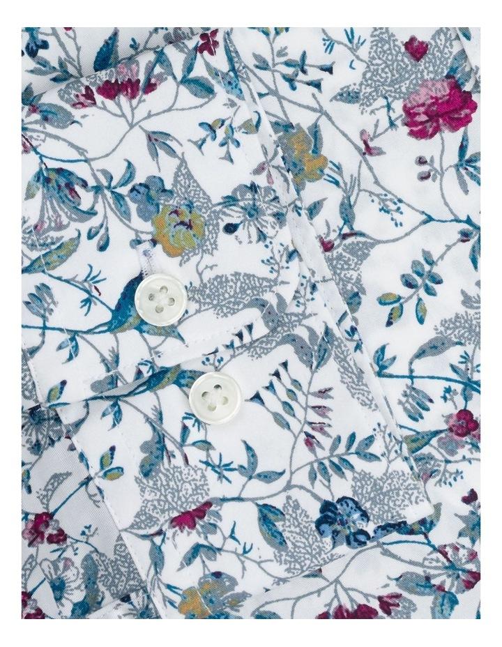 Raspberry Highlight Floral Print Shirt image 3