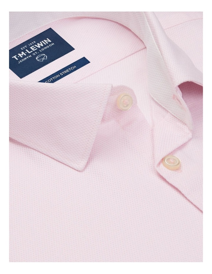 Leno Weave Slim Fit Pink Button Cuff Shirt image 2