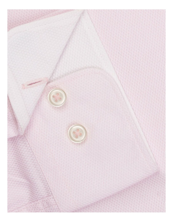 Leno Weave Slim Fit Pink Button Cuff Shirt image 3