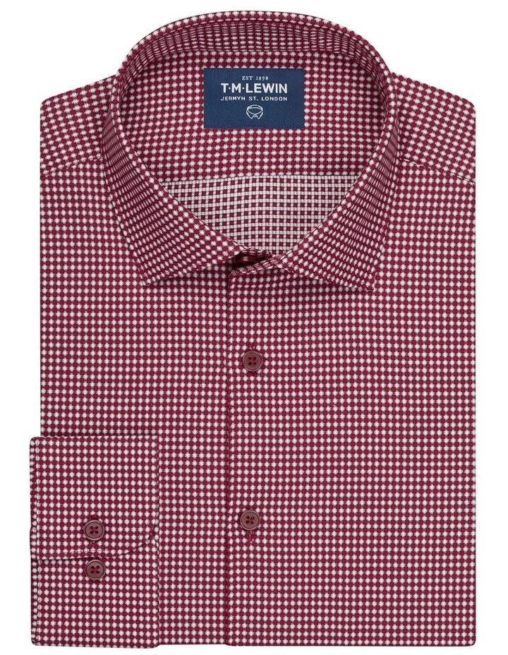 3D Texture Slim Fit Raspberry Button Cuff Shirt image 1