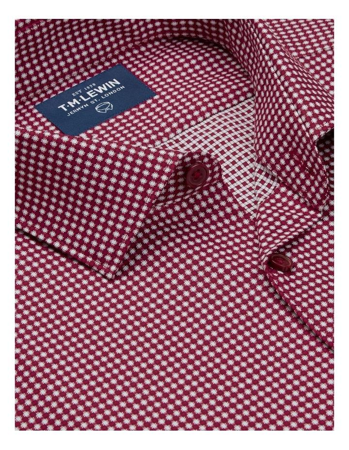 3D Texture Slim Fit Raspberry Button Cuff Shirt image 2