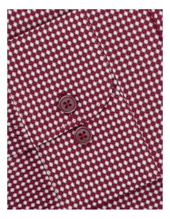 3D Texture Slim Fit Raspberry Button Cuff Shirt image 3