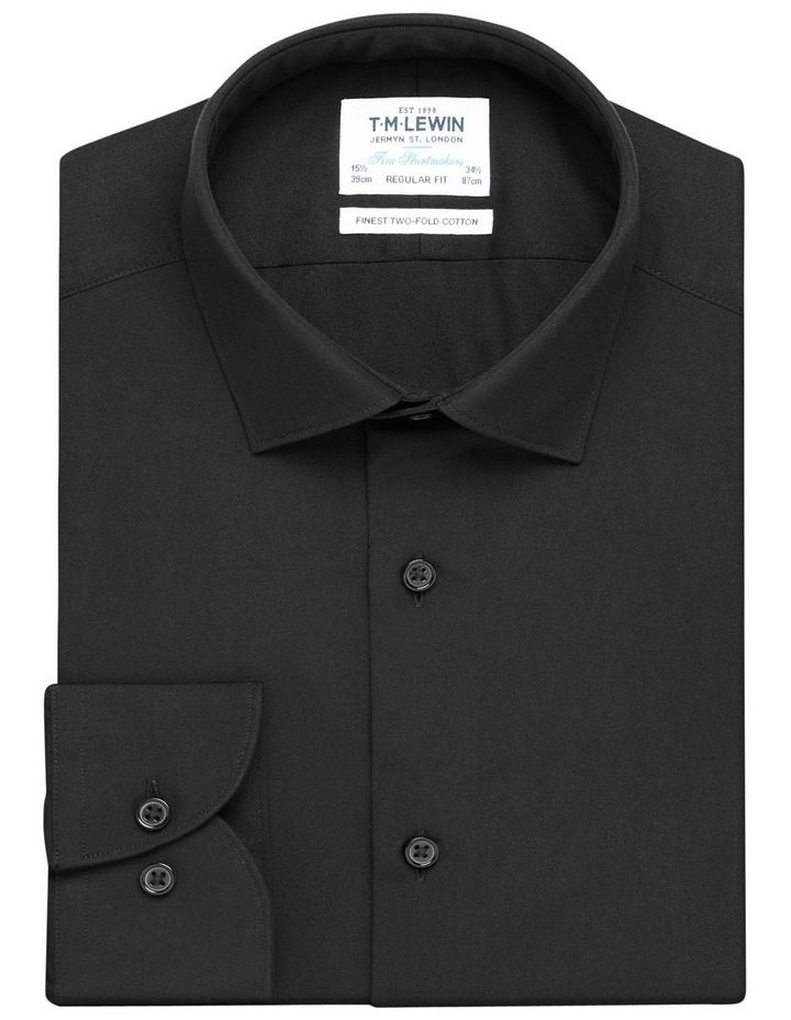 Single Cuff Regular Plain Stay Shirt image 1