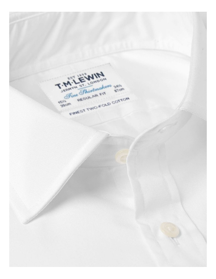 White Poplin Regular Fit Double Cuff Shirt image 2