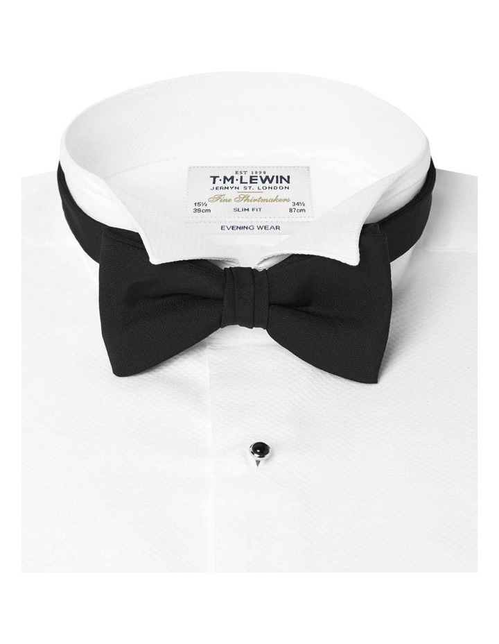 Black Barathea Tied Bow Tie image 2