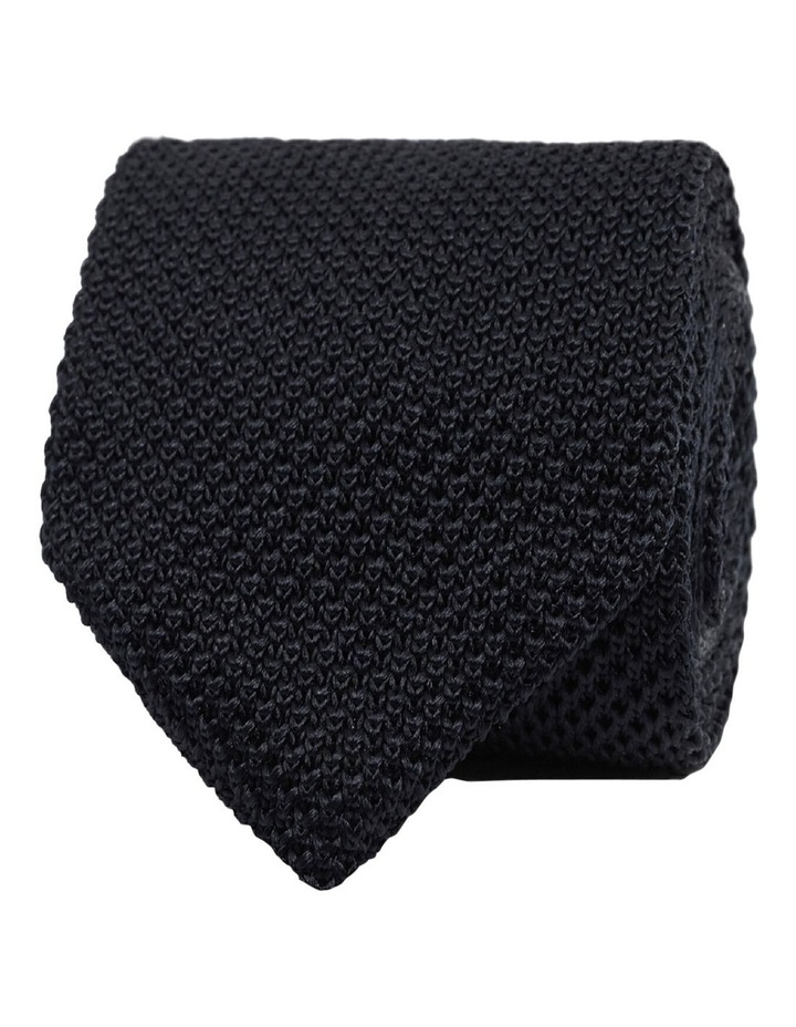 Black Knitted Silk Tie image 1