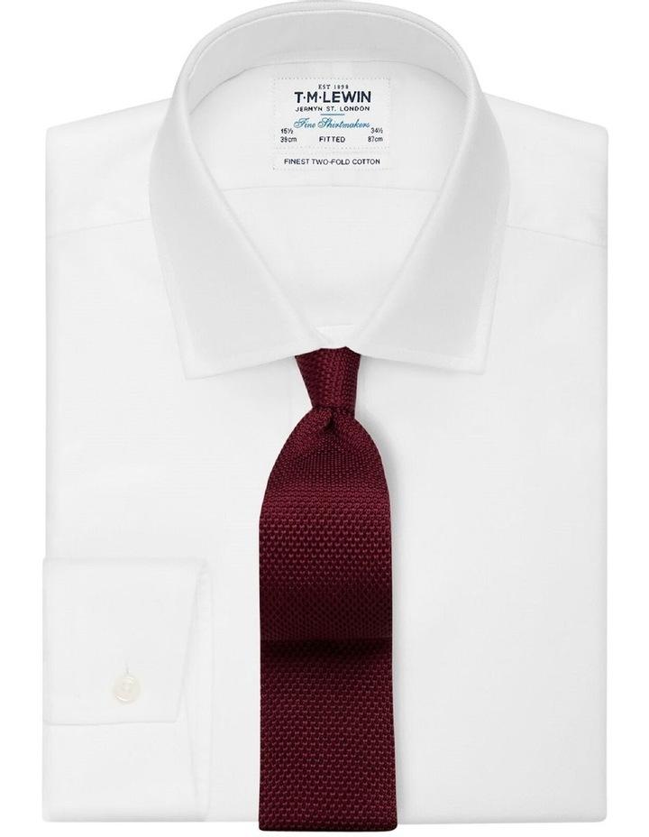 Burgundy Knitted Silk Tie image 2